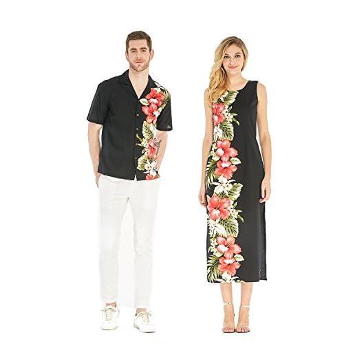 Hawaii Hangover couple de correspondance Luau aloha robe réservoir shirtaxi hommes noirs l + s les femmes