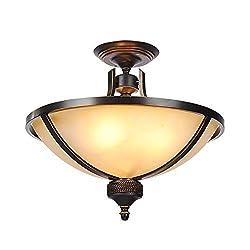 Sisyph-c Iron Lamp Simple Dining Room Living Room Bedroom Ceiling America Wrought Iron Half Chandelier Retro Chandelier