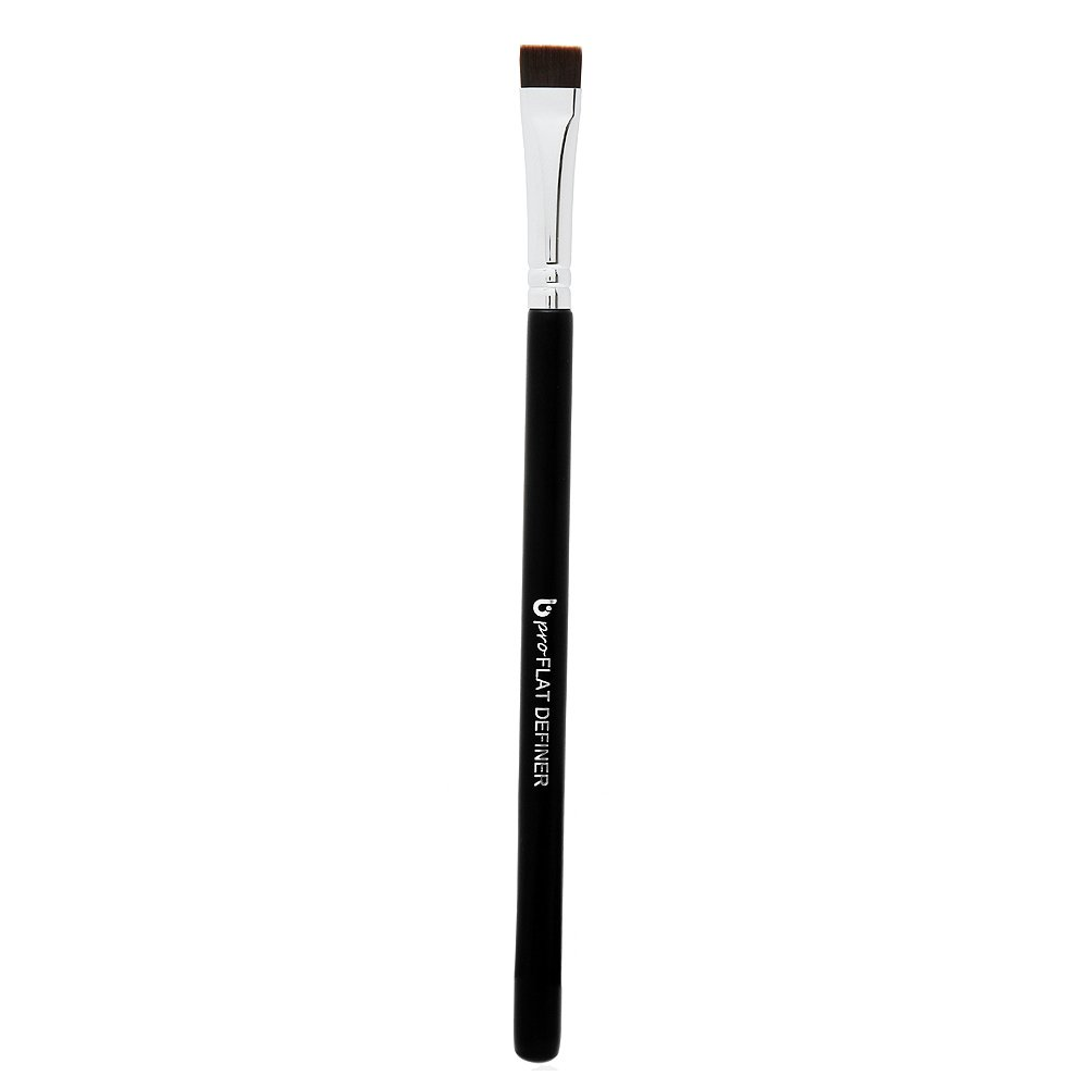 Eyeliner Eyebrow Brush Thin Fine - pro Flat Definer Eye Liner Makeup Brush with Small Synthetic Bristle for Precise Lash Liner with Gel, Liquid or Cake Powder Cosmetic Application, Brochas Para Ojos
