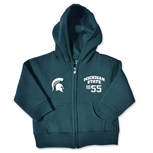 - College Kids NCAA Michigan State Spartans Infant Zip Hood, 6 Months, Dark Green