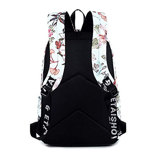 Amazon.com: Women Backpacks for Teenage Girls Floral Printed School Bags Travel Leisure Laptop Backpack Female Waterproof Mochilas: Kitchen & Dining