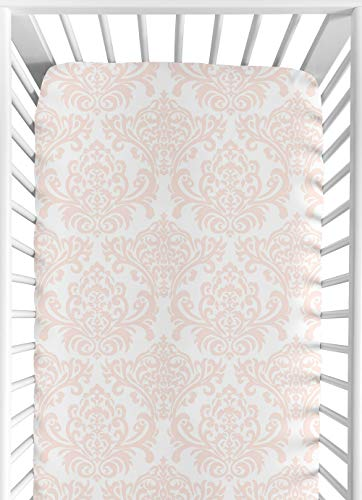 Sweet Jojo Designs Fitted Crib Sheet for Amelia Baby/Toddler Bedding - Damask Print