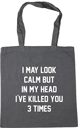 Shopping times HippoWarehouse Bag I Gym my you may 10 x38cm three look Grey Graphite Beach 42cm calm litres in head killed but i've Tote fS76fxwq