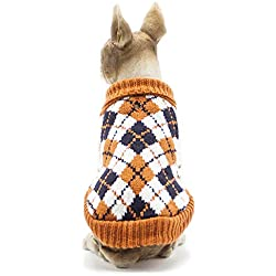SamMoSon Pets Clothes Shirt Pet Dog Clothes,Costumes Puppy Cat Knit Sweater Coat Apparel Warm Sweater Orange XS