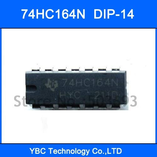MAO YEYE 100pcs 74HC164 74164 74HC164N 8bit Serial-in/Parallel-Out Shift Register DIP-14