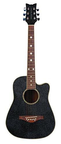 Daisy Rock Wildwood Short Scale Acoustic Guitar, Rainbow Sparkle ()