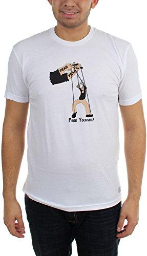 Akomplice Akomplice gratis blanca camiseta Hombres Hombres YTvxqwvP