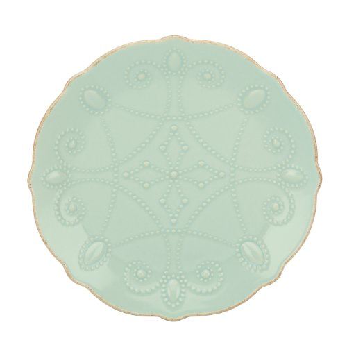 Lenox French Perle Assorted Plates, 7.5-Inch, Ice Blue, Set of 4 by Lenox