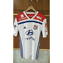 BROOK Lyon Home Soccer Jersey Maillot Coupe DE LA France 2018-2019 Full Patch&Sponsor