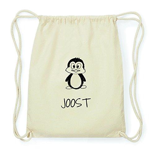 JOllipets JOOST Hipster Turnbeutel Tasche Rucksack aus Baumwolle Design: Pinguin fT8e0