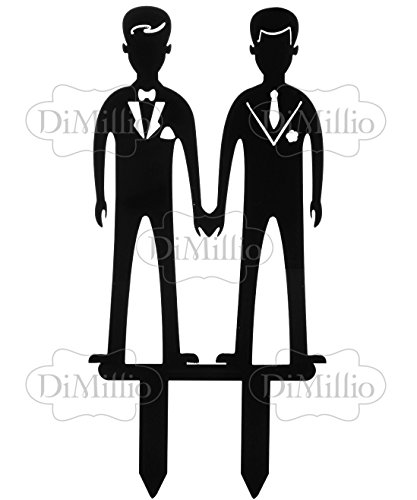 Funny Gay Men Wedding Cake Toppers Same Sex Male Marriage Cake