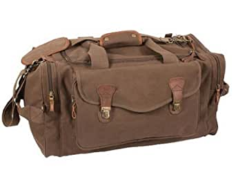 Brown Long Weekend Travel Bag - Canvas & Leather