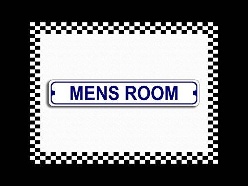 Mens Room Bathroom Novelty Metal Street Sign 3x18