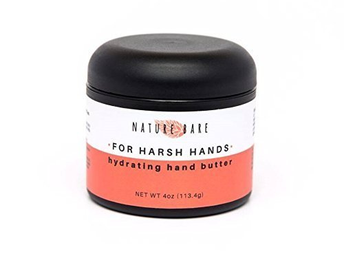 Nature Bare Body Care - Harsh Hands Hydrating Hand Butter Cream - Made with Organic Vegan and Natural Ingredients. Fragrance Free or Lavender - Treats Dry, Chapped and Aging Skin