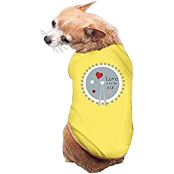 Dog Cat Pet Shirt Clothes Puppy Vest Soft Thin Love A In The Air 3 Sizes 4 Colors Available