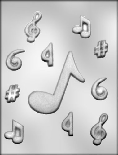 CK Products 2-Inch and 4-Inch Music Notes Chocolate Mold -