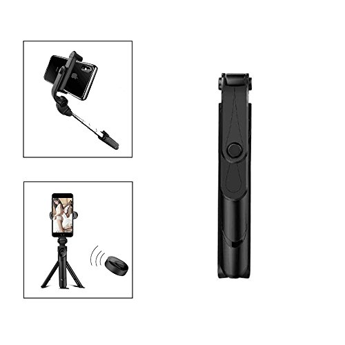 Selfie Stick Tripod,Bluetooth Cell Phone Selfie Stick Wireless Remote and Tripod Stand 2-in-1 Selfie Stick for iPhone X/8/8 Plus/7/7 Plus,Huawei,Samsung 360 Degree Rotation
