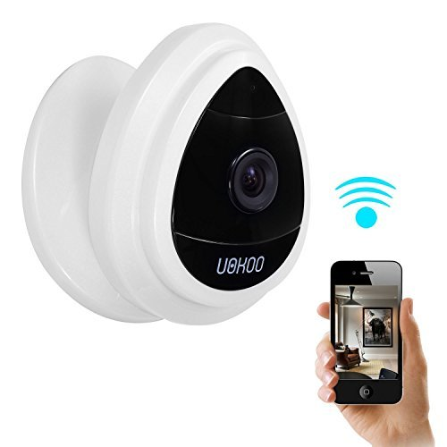 Security Mini IP Camera, UOKOO 1280x720p Home Surveillance Camera Wireless IP Camera With Built In Microphone WiFi Security Camera, Baby Video Monitor Nanny Cam,Motion Detection White [並行輸入品] B01KBRBUCI