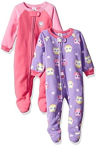 Gerber Baby 2 Pack Blanket Sleeper, owl, 18 Months - Girls Pink Sleeper