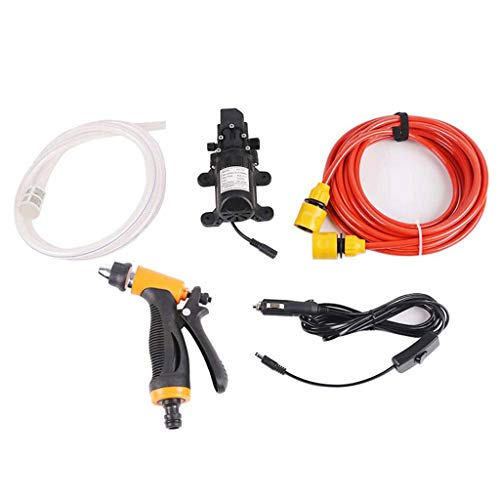 Supefriendly Portable 12V 100W High Pressure Washer 145PSI Car Electric Washer Pump Electrical Washer Pump Tools for car Home, Garden, Vehicles, Projects: