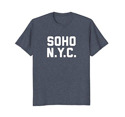 Mens SOHO NYC T-Shirt New York City tee Medium Heather - New Shopping Soho York