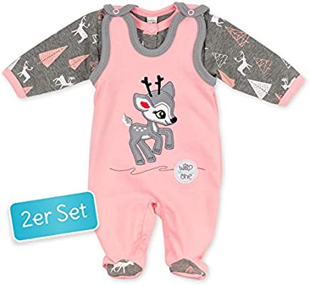 Set Pijama y la camiseta rosa gris Reno Corzo Diseño Talla:68 ...