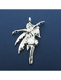 """Silver Plated Pendant In Fairy Design on 20"""" Extendable Chain"""