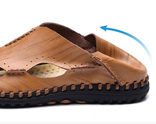 WLFHM da Brown1 Uomo in Sandali Suola Scarpe Antiscivolo Piercing Sandali Gomma da Traspirante Uomo 5rO5qgw