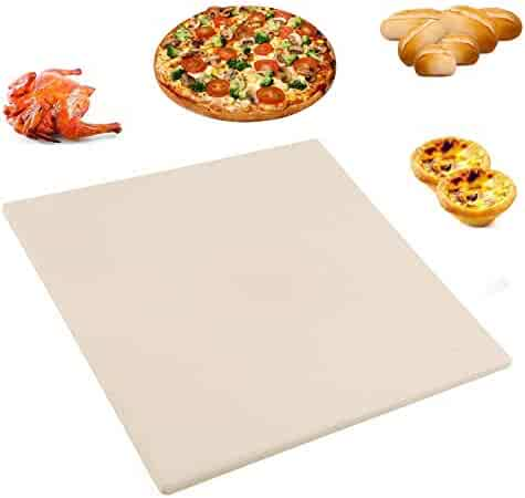 Pizza Stone, 12''x 12'' Baking Stones for Oven Grill & BBQ, Stone Oven Rectangular Pizza Stone (2018 New)