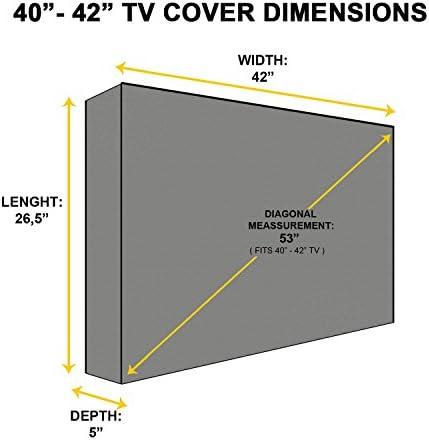 Protector TV Exterior Universal Funda para Televisor de 40