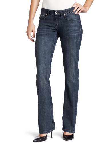 Dickies - - Frauen FD137 Schlank Boot Cut Jean, 18 x Long, Stonewashed Overdyed Black