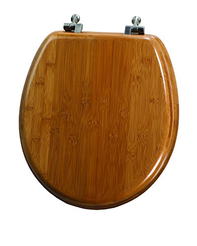 cheap Uniware Standard Beige Marbleized Wood Toilet Seat