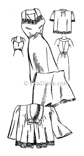 1940 Ladies' Nightgown & Bed Jacket Pattern, size 32