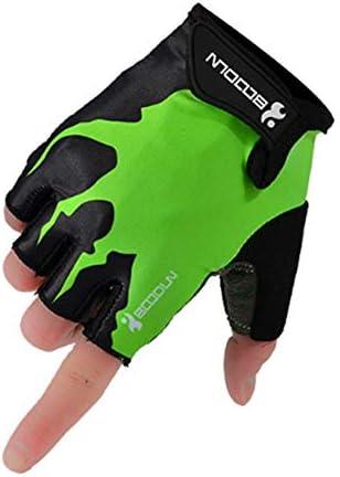 MJZJP 手袋 サイクリンググローブ 衝撃吸収 男女兼用 指切り 自転車 登山 サイクリング バイク アウトドア (Color : グレー, Size : XXL)