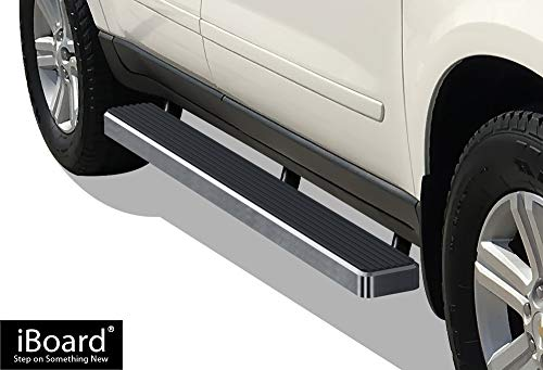 APS iBoard (Silver 5 inches) Running Boards | Nerf Bars | Side Steps | Step Rails for 2007-2017 Chevy Traverse & 2007-2009 Buick Enclave