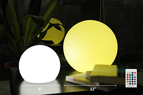 BLUEYE LED Orb Light:12-Inch Cordless LED Floating Pool Ball Light,New Easy Charging LED Module, Waterproof IP67, 16 RGB Color Home Garden Patio Decoration -