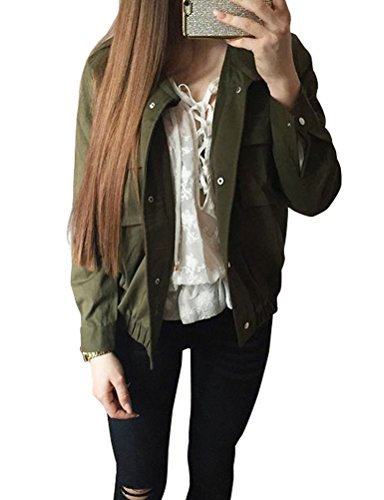 Lookbook Womens Button Down Military Jacket