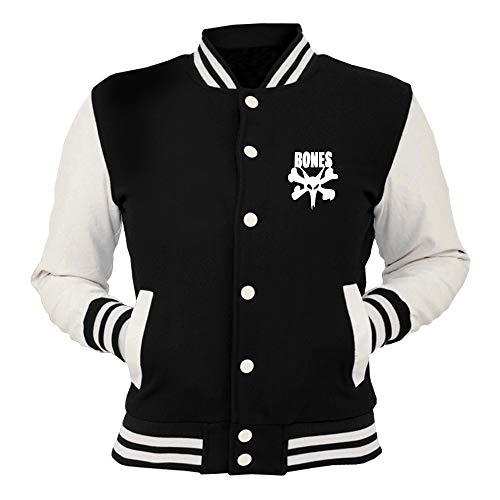 Fun0841 Skull T Nera College shirtshock Giacca Bones Skater 42918 qCxx1ZIw0