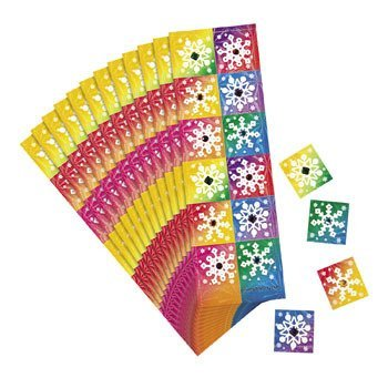 12 Snowflake Prismatic Sticker Sheets With ()