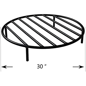 fire pit grate diy heavy duty round legs outdoor campfire grill cooking inch square 48