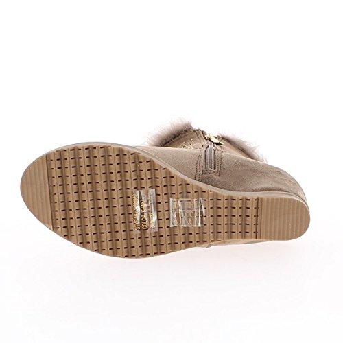Botas de tacón topo invisible 7cm y suelas anchas