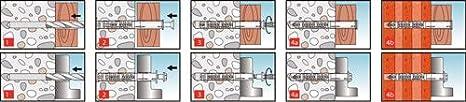 KEW Rahmend/übel mit Torxschraube RDD TX T30 50 St.//Pak 8mm x 100mm