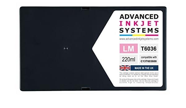 220 ml cartuchos de tinta compatible para Epson PRO 7800 9800 Impresoras Reino Unido fabricado., color magenta: Amazon.es: Oficina y papelería