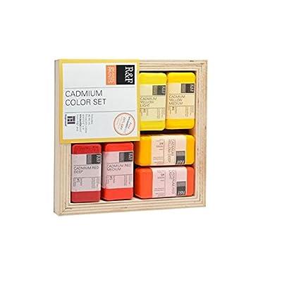 R&F Encaustic Paints Cadmium Colors, Set of 6