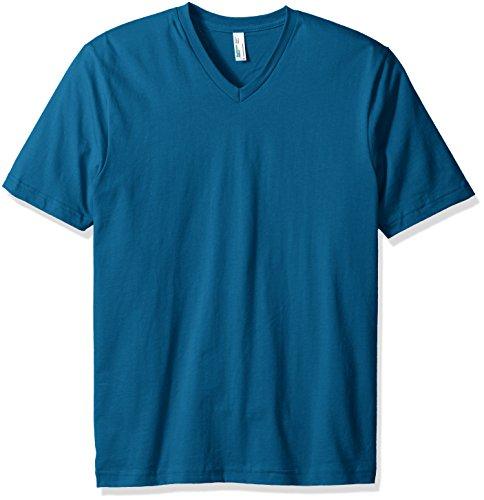 American Apparel V-neck Shirt - American Apparel Men's Organic Fine Jersey Short Sleeve Classic V-Neck T-Shirt, Galaxy, XX-Large