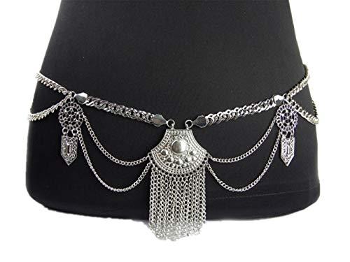 Belt Link Tone Chain Silver (Hot Sexy Waist Belt Belly Unibody Body Chain(Silver))