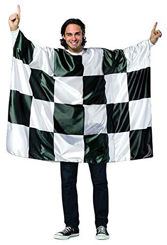 Rasta Imposta Flag Tunic-Checkered, Black/White, One Size ()