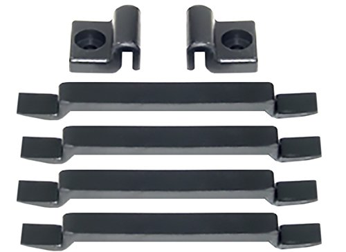 Land Cruiser FJ40, FJ45 Hood Pad Cushion Kit - Rubber - 4ea Front & 2ea Side