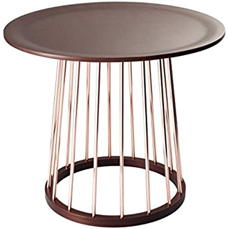 Adesso WK2360 15 Barnum End Table Copper Walnut