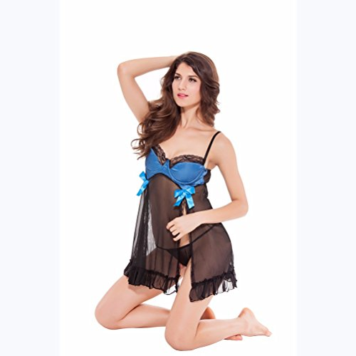 Yall Pijama Mujer Tira De Gasa Falda Blue